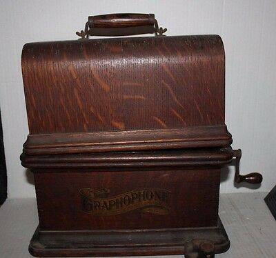 Vintage Antique Columbia Graphophone Cylinder Phonograph Model BK Jewel Series B