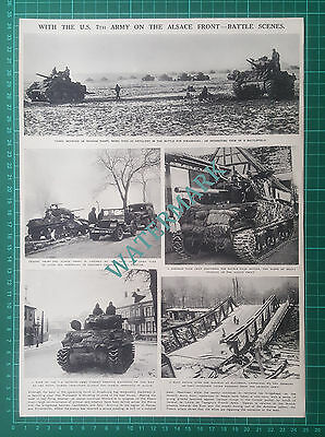 (X946) US 7th Seventh Army Alsace Front Strasbourg WW2 - 1945 Clip