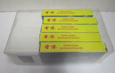 Lot of 171 View of Hong Kong Souvenir Mounted Color Picture Photo Slides 1960s?