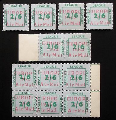 (X002 )People's League Strike Post Stamps Rare Genuine Air OP MNH See Photo's