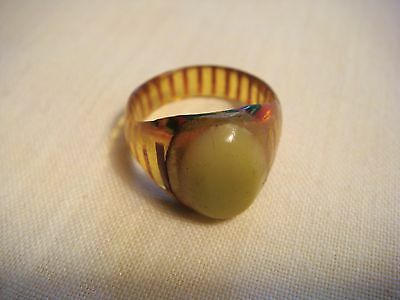 A Real Antique Bakelite and Celluloid Ring from 1920's-1940's ~ Size 5.75
