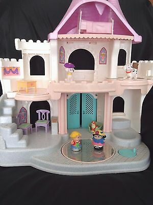 Fisher Price Once Upon A Dream Palace Castle Dollhouse White Dance Twirl Ice