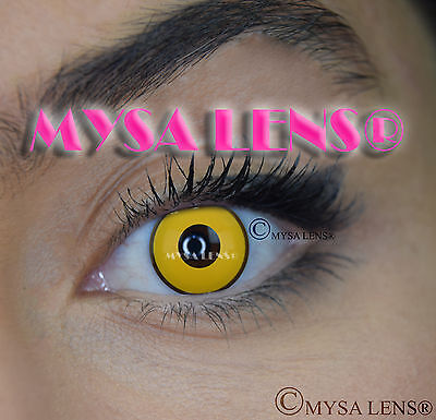 Crazy Coloured Contact Lenses Kontaktlinsen color contact lens Yellow Manson