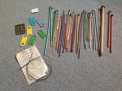 Various Metal And Vintage Odd Knitting Needles And Accessories