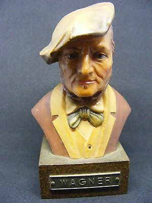Miniature Wooden Carved Bust WAGNER