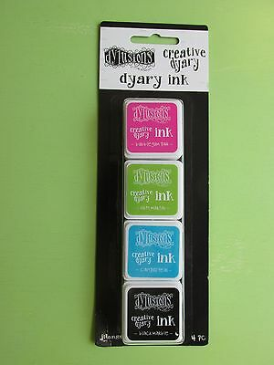 Ranger Dylusions Creative Dyary Ink Set Kit Lot NEW RELEASE