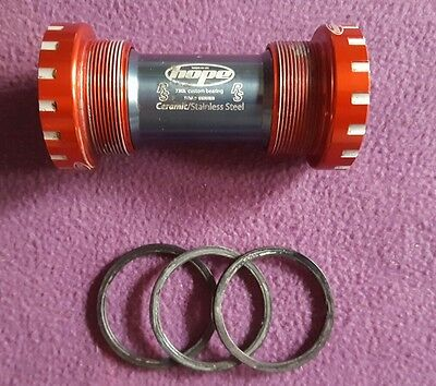 VGC Hope Ceramic bottom bracket BB in Red 68/73 mm hollow tech II fitment