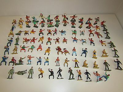 Lot 89 Starlux Figure, Figurines Soldiers, Indian, indien, cowboys and more!!