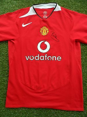 Bryan Robson Hand Signed Manchester United Home Football Shirt - COA - Autograph