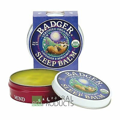 Badger Organic Sleep Balm Lavender and Bergamot 21g