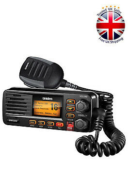 Uniden UM380BK Class D DSC Fixed Mount Marine Radio Black Waterproof