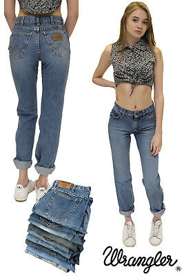 Wrangler Womens Mom High Waisted Boyfriend Jeans Vintage  26 27 28 29 30 31 32