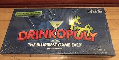 Drinkopoly The Blurriest Game Ever. Monopoly Drinking Game. Adult Party Fun.