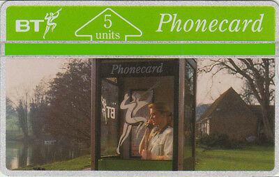 BT Internal 6, Incentive '91, person in phone booth, Mint Phonecard