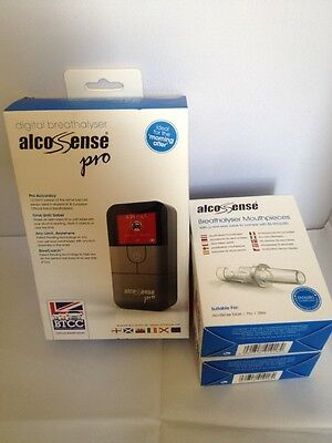 Alcosense pro digital fuel cell breathalyser - Brand new , plus 50x mouthpieces