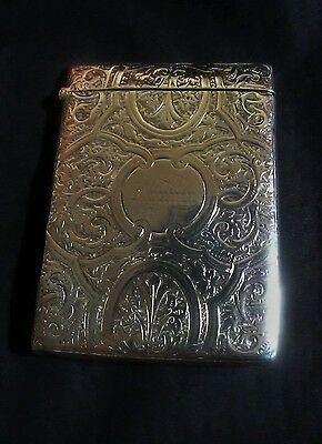 Victorian Ornate Silver Card Case by Howard James 1890