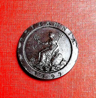 George 111 1797 Cartwheel Twopence Very Nice Condition [2] Nice Rare Coin