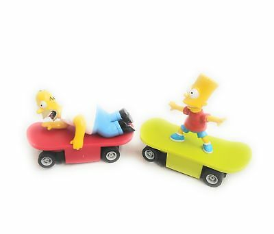 Micro Scalextric Pair Of Cars The Simpsons - Bart & Homer Simpson Skateboards