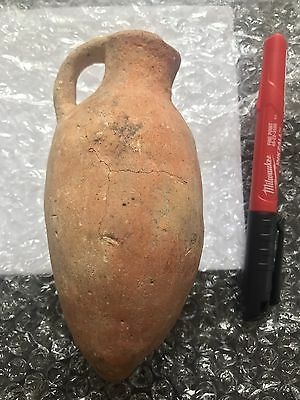 Lot of 2 Ancient Holy Land Pottery Jug/Oil Lamp c1500BC