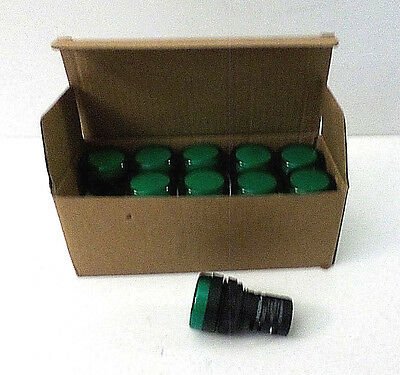 Noark Ex9IL2N3 Green Indicator Light 110V Round Type Compacted Arc - Box of 10