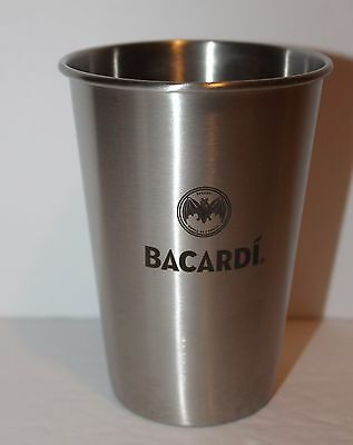 Bacardi Rum Stainless Steel Shaker/Cup with Bat Logo NEW