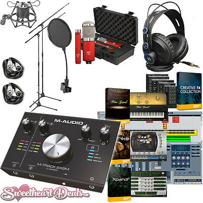 M-Audio M-Track 2x2M Home Recording Bundle Studio Package w/ Cubase