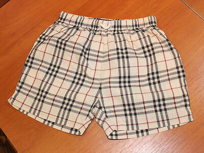 100% Genuine boys baby BURBERRY Check Trousers - 6m - children