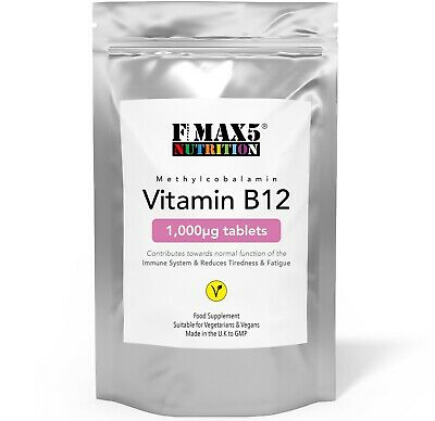 Vitamin B12 1000mcg Methylcobalamin Tablets High Strength Help Tiredness Fatigue