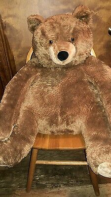 "Large Melissa & Doug Deluxe Jumbo Brown Teddy Bear 31"" Tall Sitting Plush"