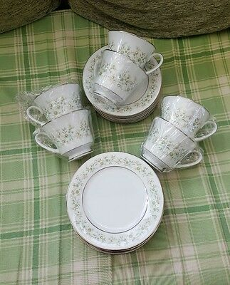 Noritake Savannah - 6 Tea Cups & Saucers & Side Plates 1St Vgc