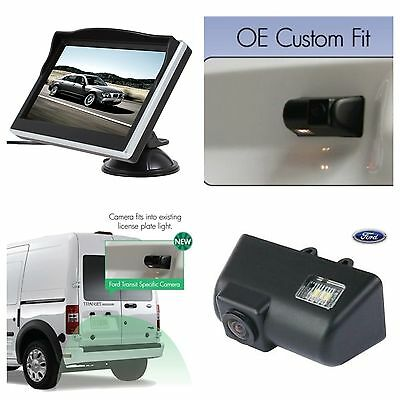 """Reverse Rear Camera Kit For Ford Transit & Connect Van,includes 5"""" Screen,Uk"""