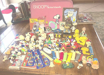 """Large Snoopy Peanuts Estate Lot 1960""""s and up. Rubber Toys  Holiday Ornaments"""