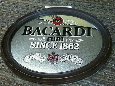 Vintage Bacardi Rum Bar Sign Mirror.
