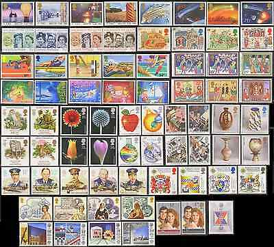 GB Stamps 1986-1987 – 17 Mint Commemorative Sets (72 Stamps)