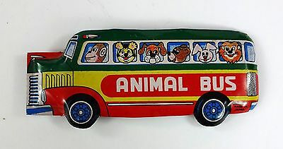 Vintage Litho Animal Bus - Clicker Toy