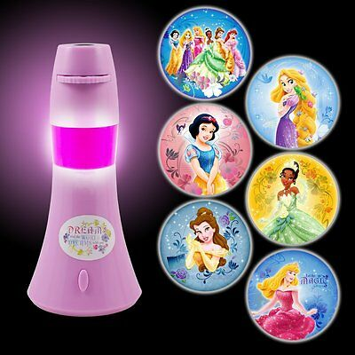 Disney Princess Projector Led Night Light Battery-Operated Lamp For Kids Bedroom