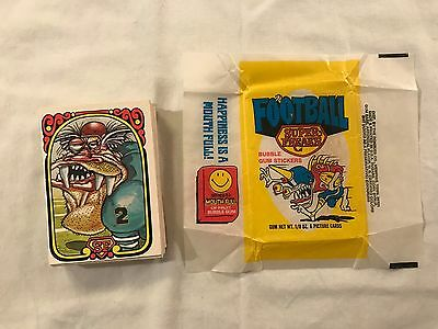 1974 Donruss Football Super Freaks Trading Card Set (Stickers) 1-42 SEE DESC