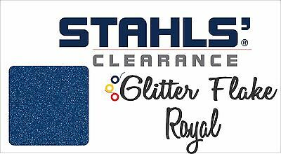 "12"" x 10 Yards - Stahls' Glitter Flake - Heat Transfer Vinyl - Royal Blue"