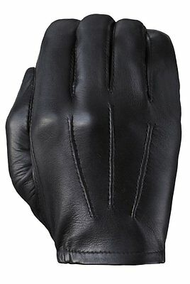 NEW Tough Gloves TD302 Patrol Police Ultra Thin Leather Gloves Black - SIZE 10