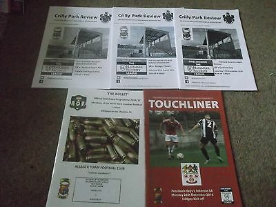 2016/17 Atherton Lr Programme Collection H&a North West Counties League X 5