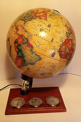 "Vintage 1980 Scan Globe Lamp Thermometer 12"" Diameter"