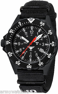 KHS Military Watch Shooter Trigalight Date Swiss Mad Army XTAC Band KHS.SH.NXT7