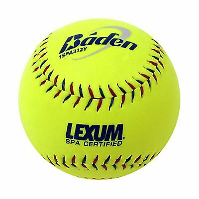 Baden 1SPA312Y 12 Inch Yellow Slow Pitch Softball 1 Dozen 1SPA312Y