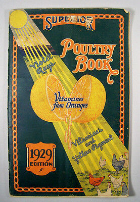1929 Superior Poultry Book Universal Mills Ft Worth Texas Booklet Chickens VTG