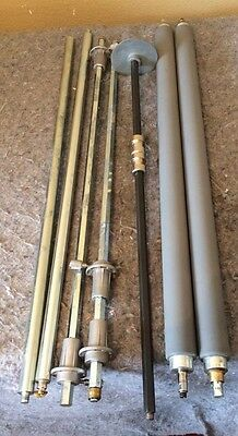 SET: (2) GBC Ultima 65 Laminator Rubber Pressure Rollers + Assembly/Shafts