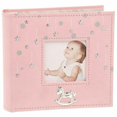 LITTLE STARS PHOTO ALBUM PINK HOLDS 4 x 6 PHOTOS GIRL