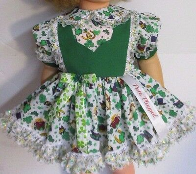 "St. Patrick's Dress, Matching Panties and Headband for 35"" Patti Playpal Doll"