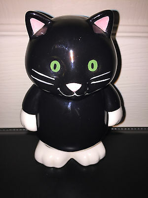 Black and White ceramic Cat Money Box 14 cm