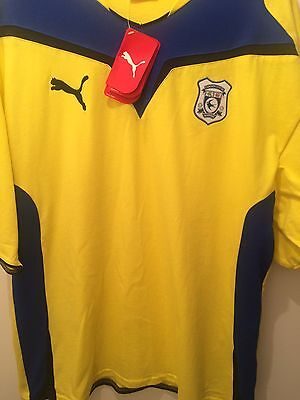 Cardiff Bluebirds Jersey Shirt Cardiff City Puma NEW 100% Cotton Size M Yellow