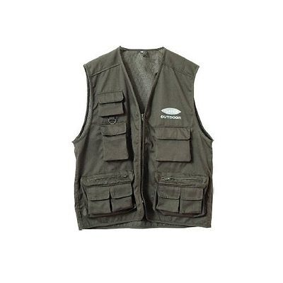 Fladen Fly Fishing Vest Olive Green 11 Pocket Trout Waistcoat Hunting Wading